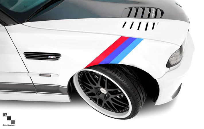 MColored Stripe Decals For E BMW Series And M - Bmw decals for wheels