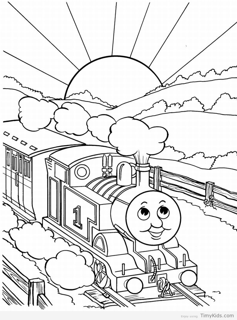 http://timykids.com/coloring-pages-thomas-the-train.html | Colorings ...