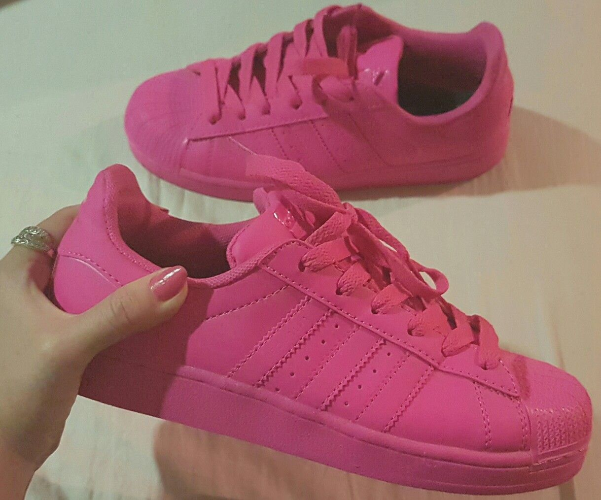 best loved 0f4ce 3cc44 Adidas superstar colors pink, Pharrell Williams | Shoes ...