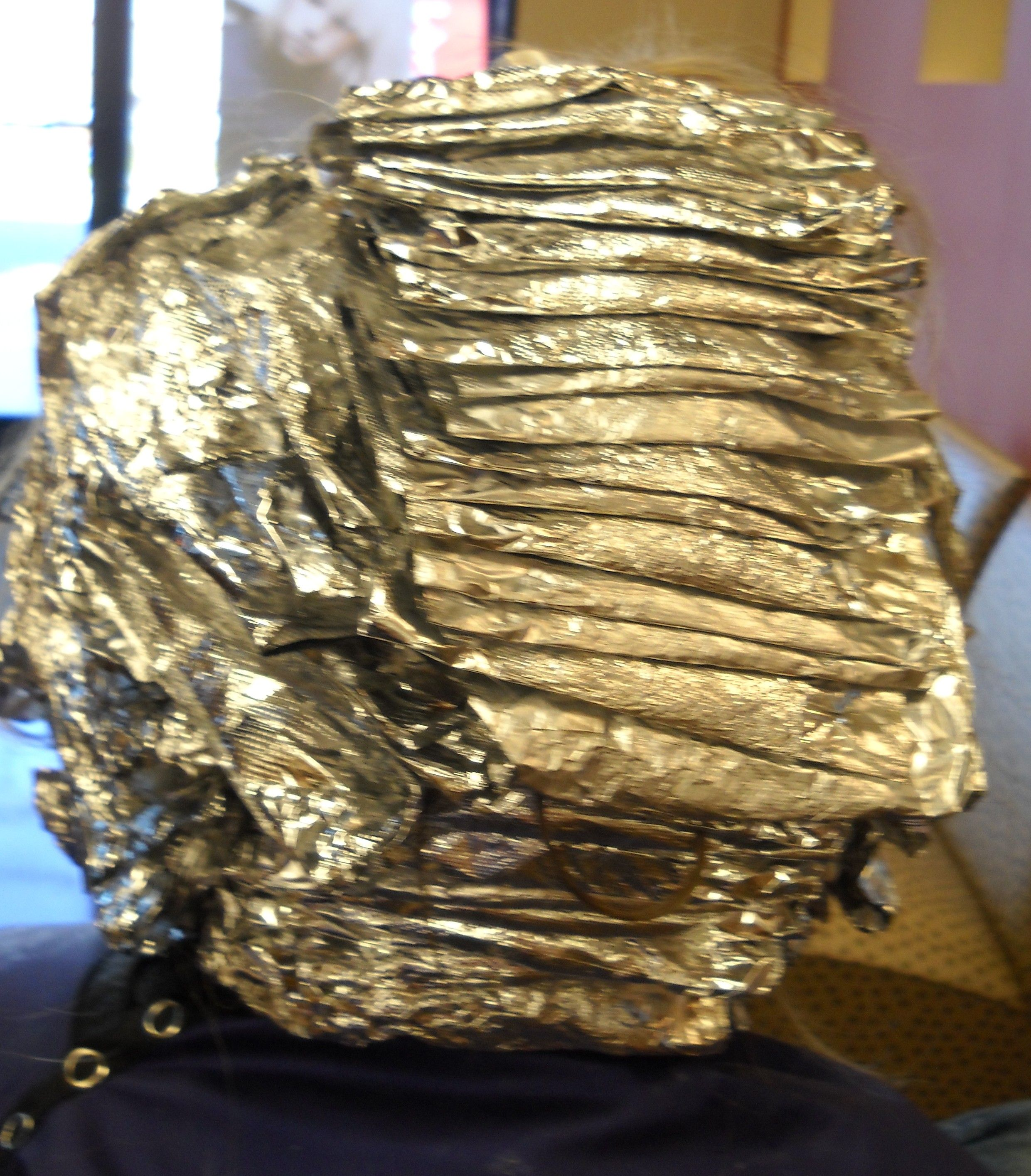 Highlights and Lowlights -- over 200 foils on model's head!
