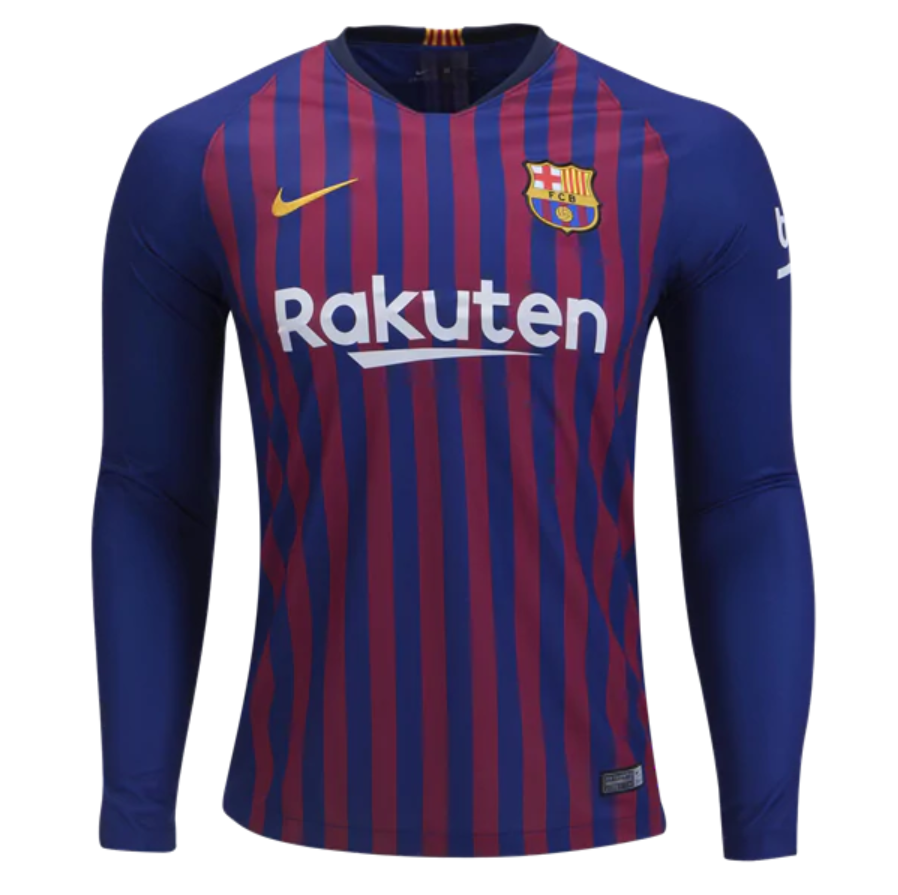 945bb5107 FAN SHIRT Messi  10 FC Barcelona Jersey Long Sleeve 2018-2019 Home Free  Shipping