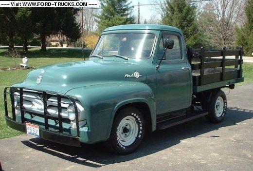 3d76e262d9d08 Woodland Green 1955 Ford F100 Flatbeds Farm Trucks, Old Trucks, 1956 Ford  F100,
