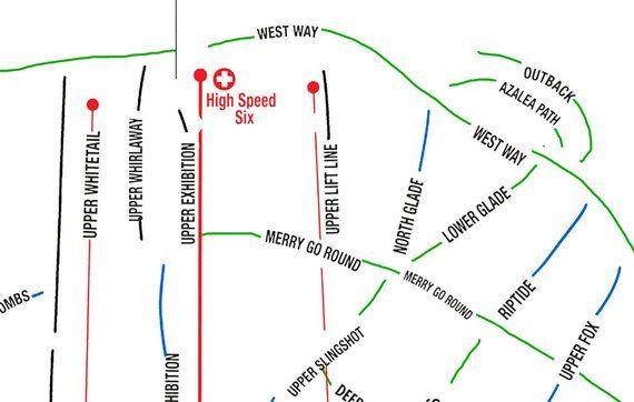 Jiminy Peak Ski Map Art, Jiminy Peak Machusetts, Taconic ... on