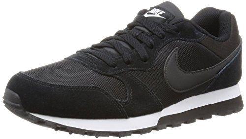 Nike Womens Md Runner 2 BlackBlackWhite Running Shoe 75