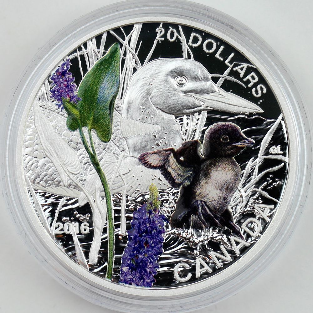 2014 $20 Baby Animals Puffin 1 oz Pure Silver Color Proof 2nd Coin in New Series