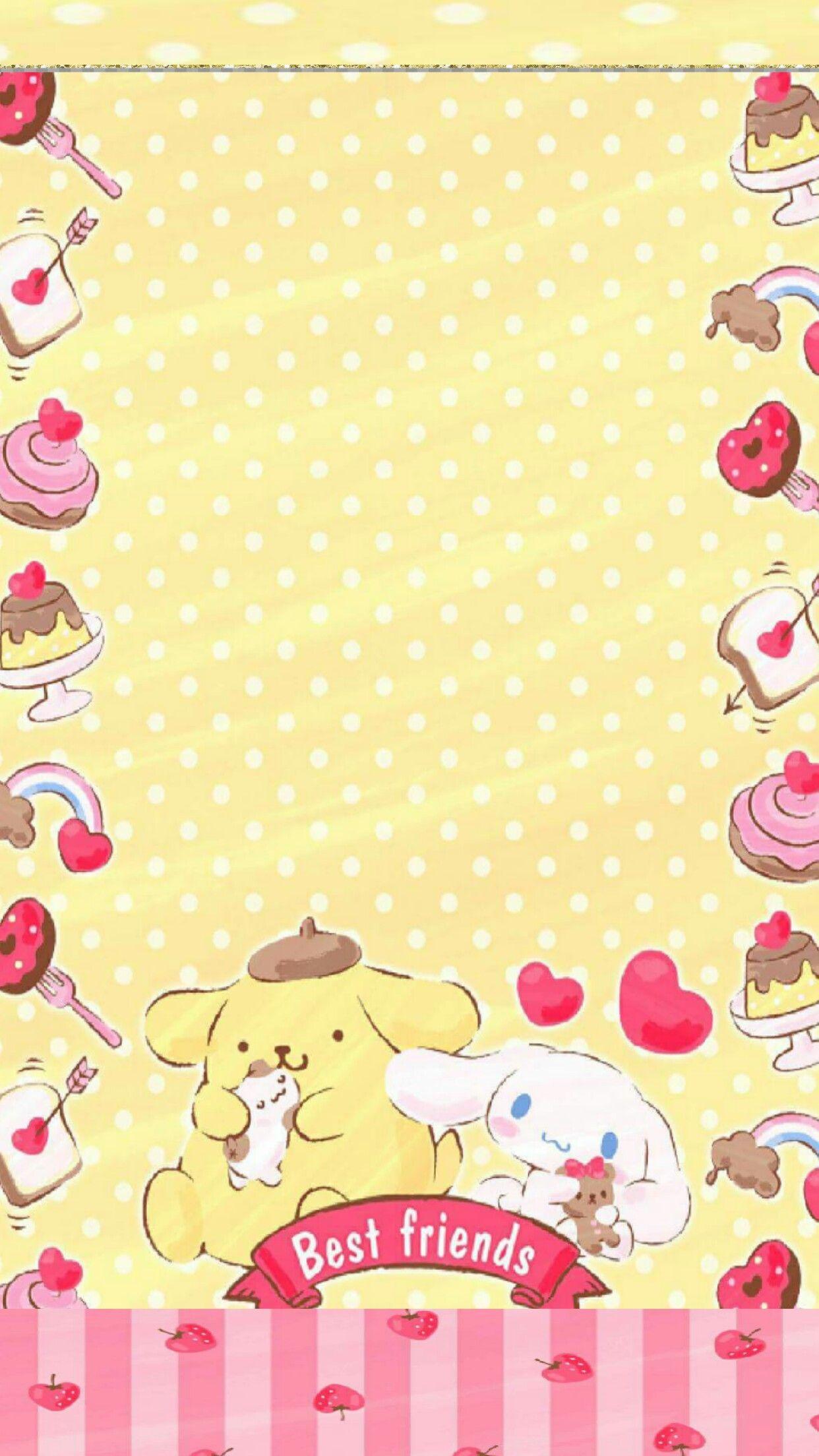Pompompurin Background X3 ポムポムプリン 壁紙 シナモロール 壁紙 かわいいイラスト