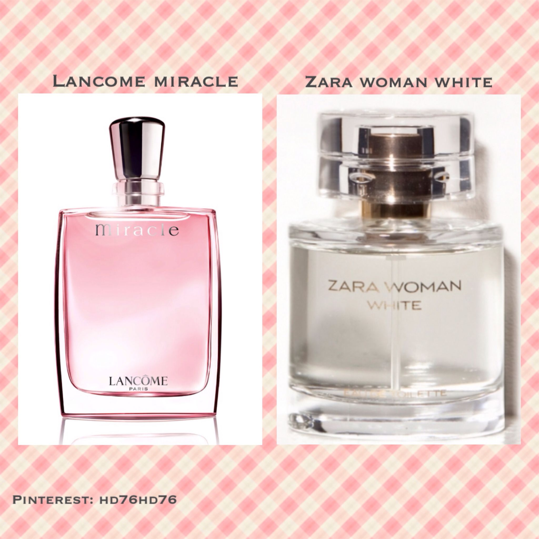 Lancome Miracle Perfume Smells Like Zara Woman White Perfume