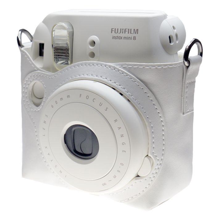 Fujifilm Instax Mini 8 Camera Leather Bag Pure White By