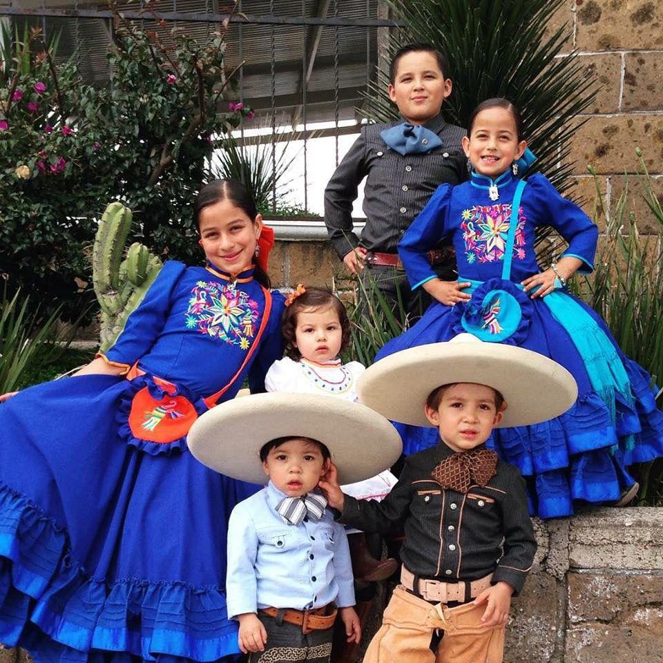 Niños Charros Vestidos Escaramuza Vestidos De Fiesta