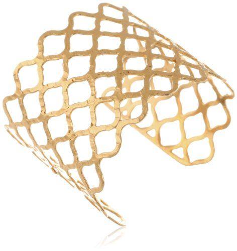 "Devon Leigh Gold-Dipped Honeycomb Cuff Bracelet, 6.25"" Devon Leigh,http://www.amazon.com/dp/B00DU4TX56/ref=cm_sw_r_pi_dp_ORsptb13EFF27MHD"