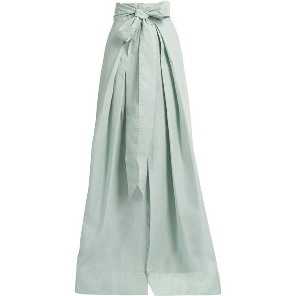 8c26c118c Kalita Avedon Days cotton-poplin maxi skirt ($438) ❤ liked on Polyvore  featuring skirts, light blue, high-waist skirt, tie-dye maxi skirts, light  blue long ...