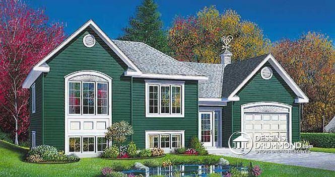 W2447 - Plan de maison 1 étage, économique, garage avec rangement, 2