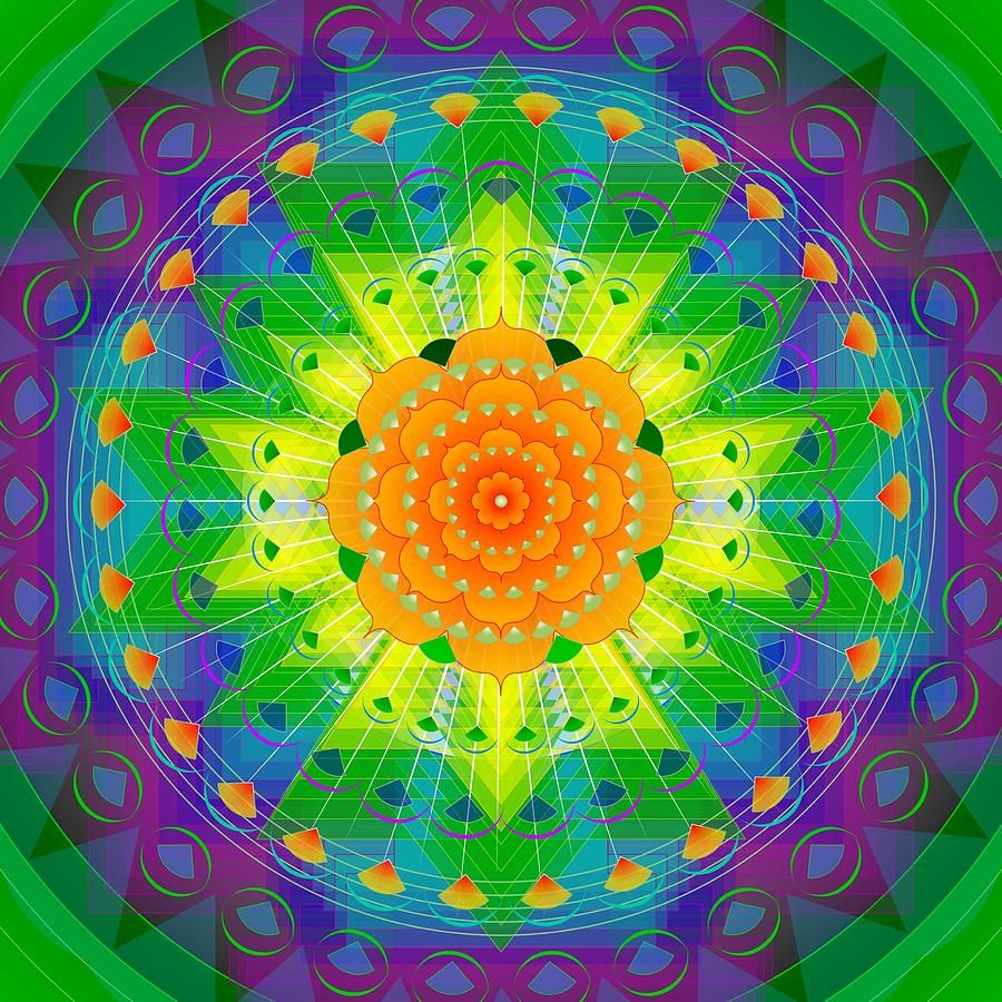 Mandala for Personal Healing by Sarah Niebank Hoffman