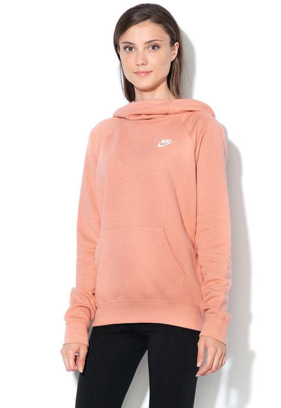 Дамски розово-оранжев #Суитшърт с лого - Nike   Hooded ...