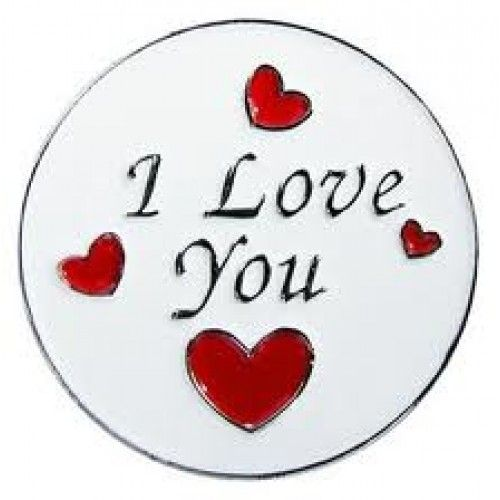 I Love You Enamel Ballmarker and Clip set