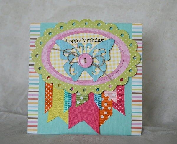 cricut, bright, birthday, card, diy