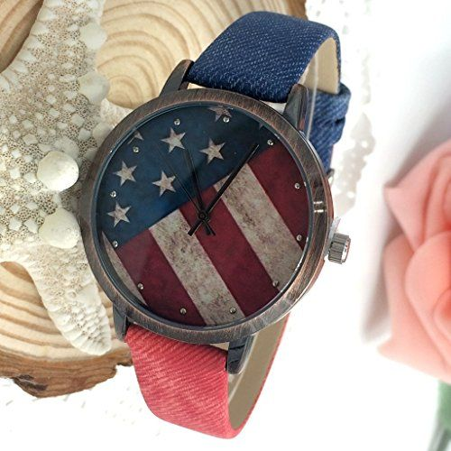 Kezzi Women's K1048 Casual Quartz American Flag Dial Watch Blue Red Leather Strap Kezzi http://www.amazon.com/dp/B00WTOLW52/ref=cm_sw_r_pi_dp_FKzvvb0M15WEZ