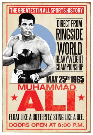 MUHAMMAD ALI GREATEST OF ALL TIME 24x36 poster SONNY LISTON CHAMP CASSIUS CLAY!!