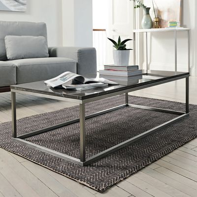 Click To Zoom Marble Rectangular Coffee Table Grey