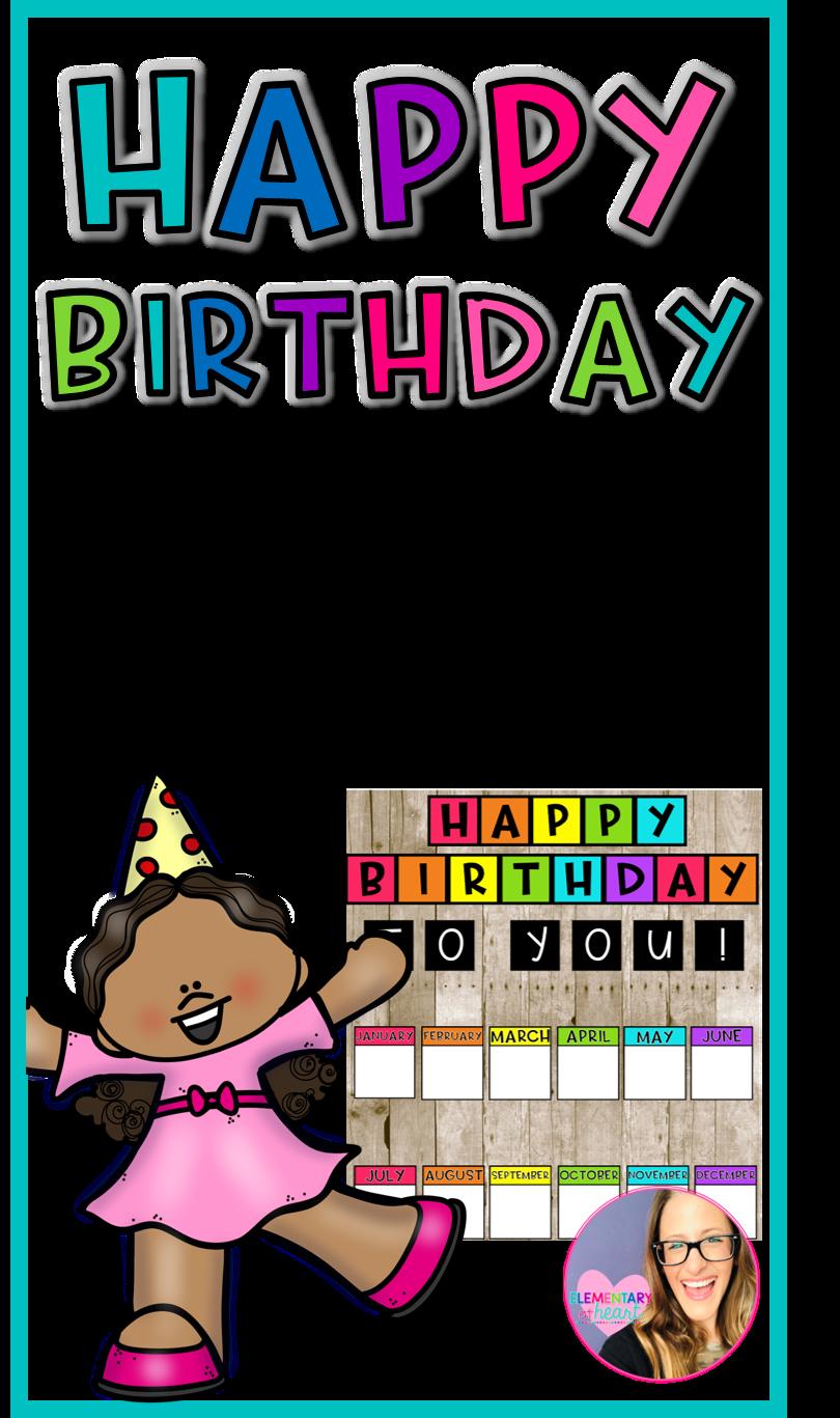 Happy Birthday Bulletin Board Editable Birthday Bulletin