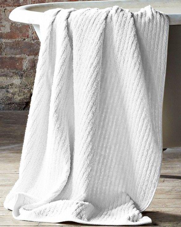 Garnet Hill Eileen Fisher Cotton & Linen Ribbed Towels ($20)