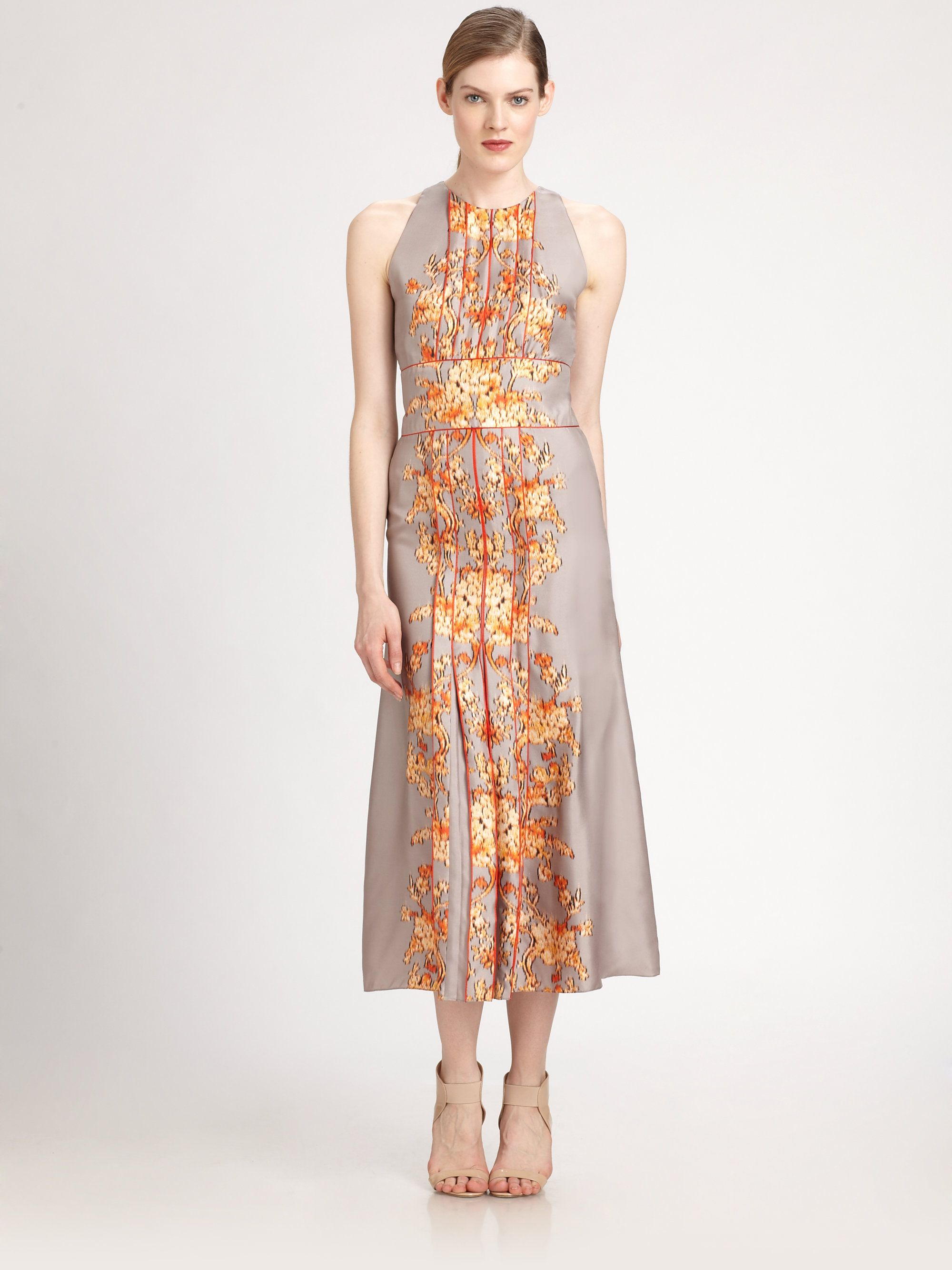 Carolina herrera silk baroque dress baroque style pinterest