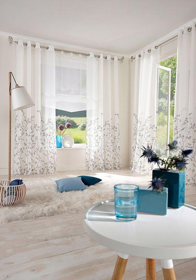 Gardine, my home, »Yalinga« (1er Pack) - Gardinen Vorhänge - home - gardinen fürs wohnzimmer
