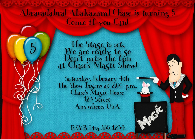 Magic Birthday Party Invitation | Pinterest | Party invitations ...