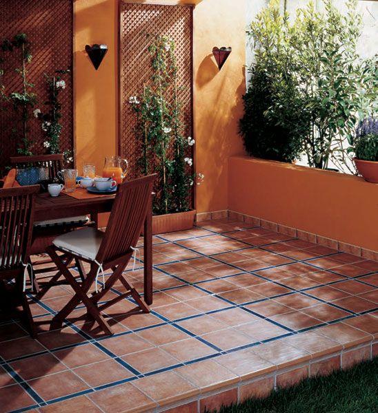 Pavimento 25x25 palma estancias exterior fotos decoracion - Decoracion de exteriores de casas ...
