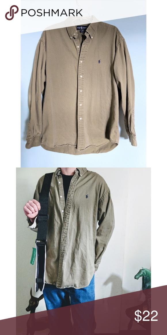 c1462dea Military green button-up Ralph Lauren polo shirt polo button up size large # ralphlauren #polo #plaid #red #y2k #streetwear #poloshirt #preppy #90s #00s  ...