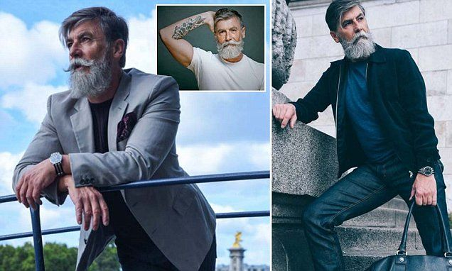 Hipster pensioner becomes a top model after posting photos