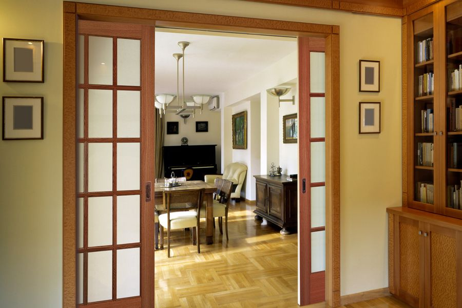 Oak 15 lite pocket French doors. (627) | Doors | Doors ...