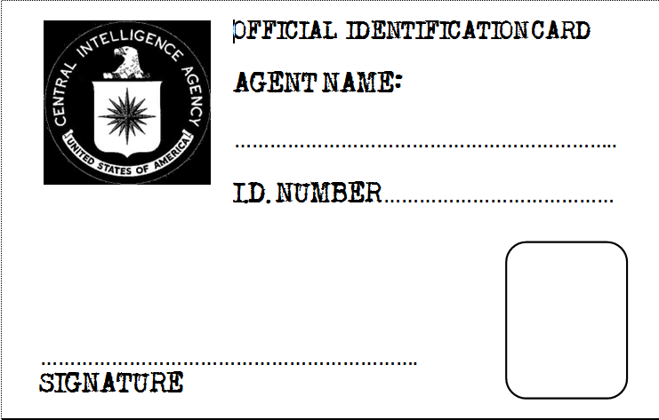 Secret Agent badge template | Parties......for Him | Pinterest ...
