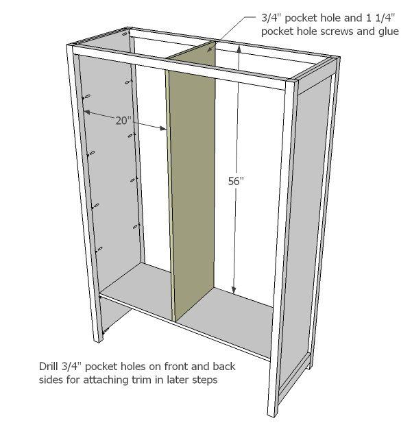 Ana White | Mirrored Door Wardrobe - DIY Projects | Home ideas ...