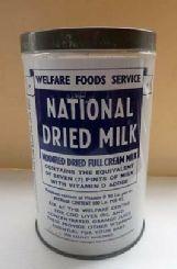 Large Vintage 1940s / 50s Baby Milk Tin