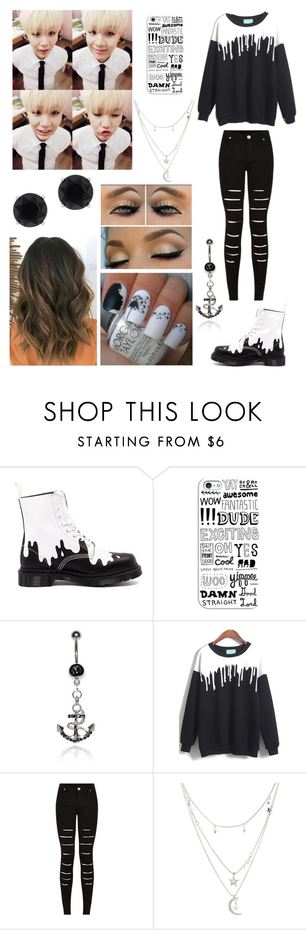 """Hangin with Suga"" by cmarnoldrr ❤ liked on Polyvore featuring Dr. Martens, Katie May, Casetify, Charlotte Russe and Anne Klein"