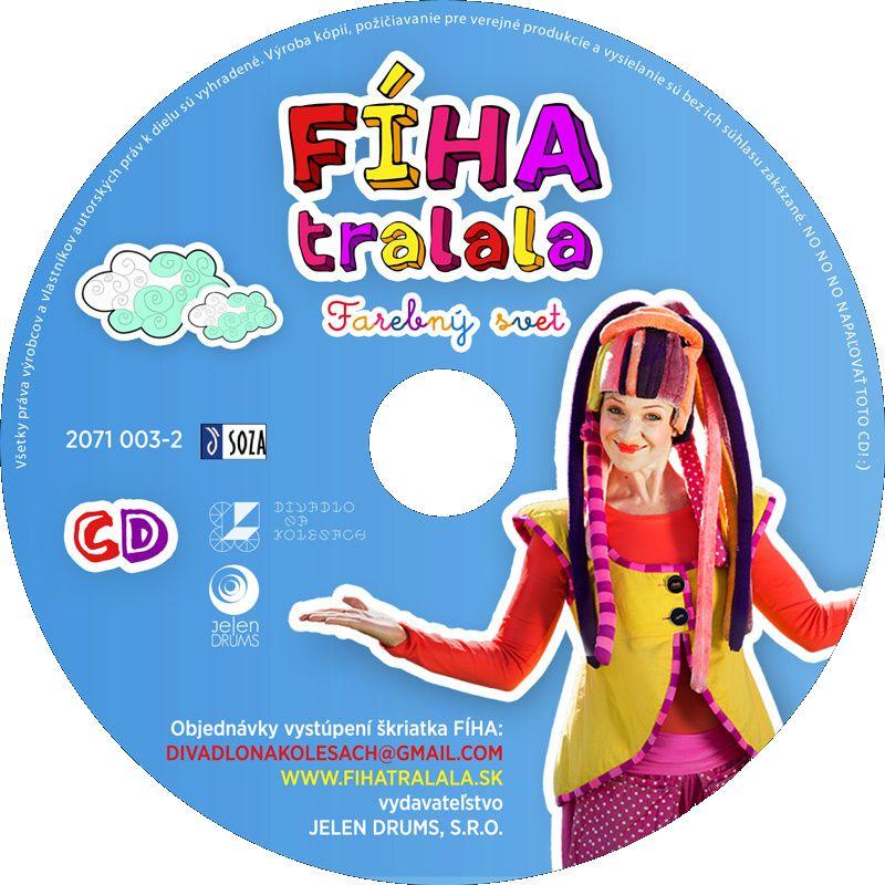 CD Fíha tralala - farebný svet Počúvajte Vaše obľúbené pesničky z rozprávky Fíha tralala - Farebný svet v aute, tancujte na ne s kamarátmi, v školách aj doma.