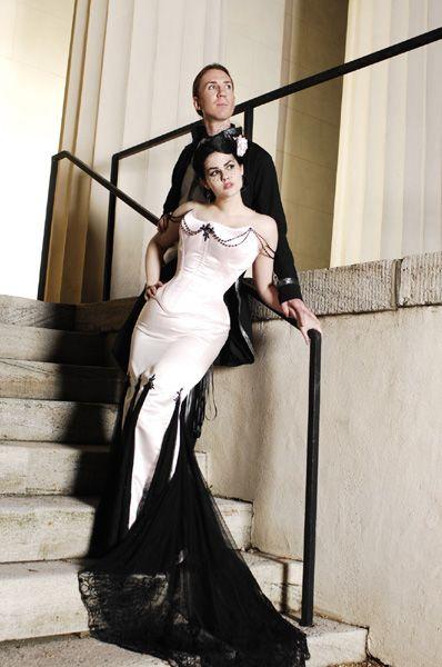 Black And White Wedding Dress Decoration Designs Halloween