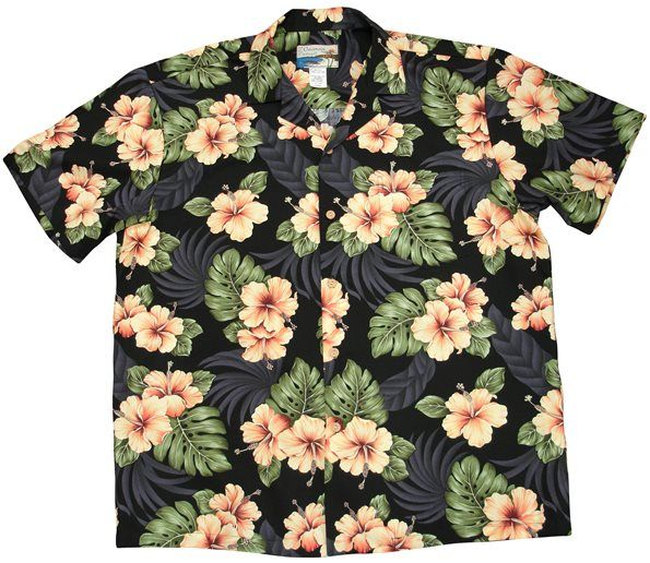 662ccb48 Waimea Casuals [Hibiscus / Black] - Men's Hawaiian Shirts - Hawaiian Shirts  | AlohaOutlet SelectShop