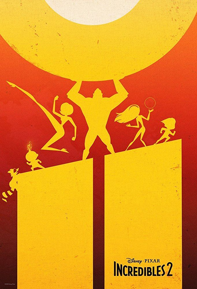 incredibles 2 gets a new silhouette poster plus early double features