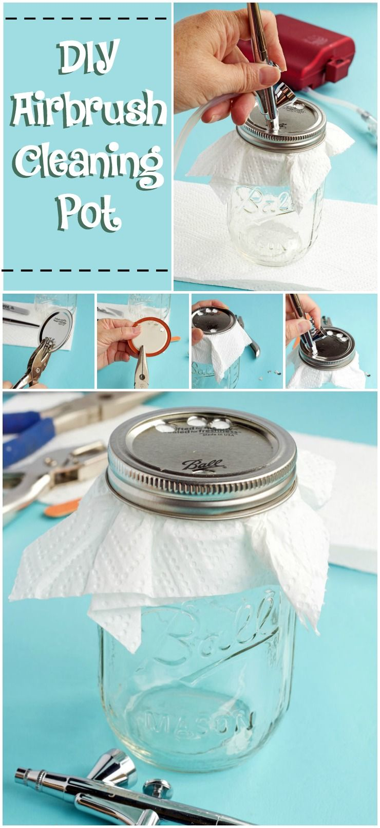 DIY Airbrush Cleaning Pot Airbrush, Airbrush cake