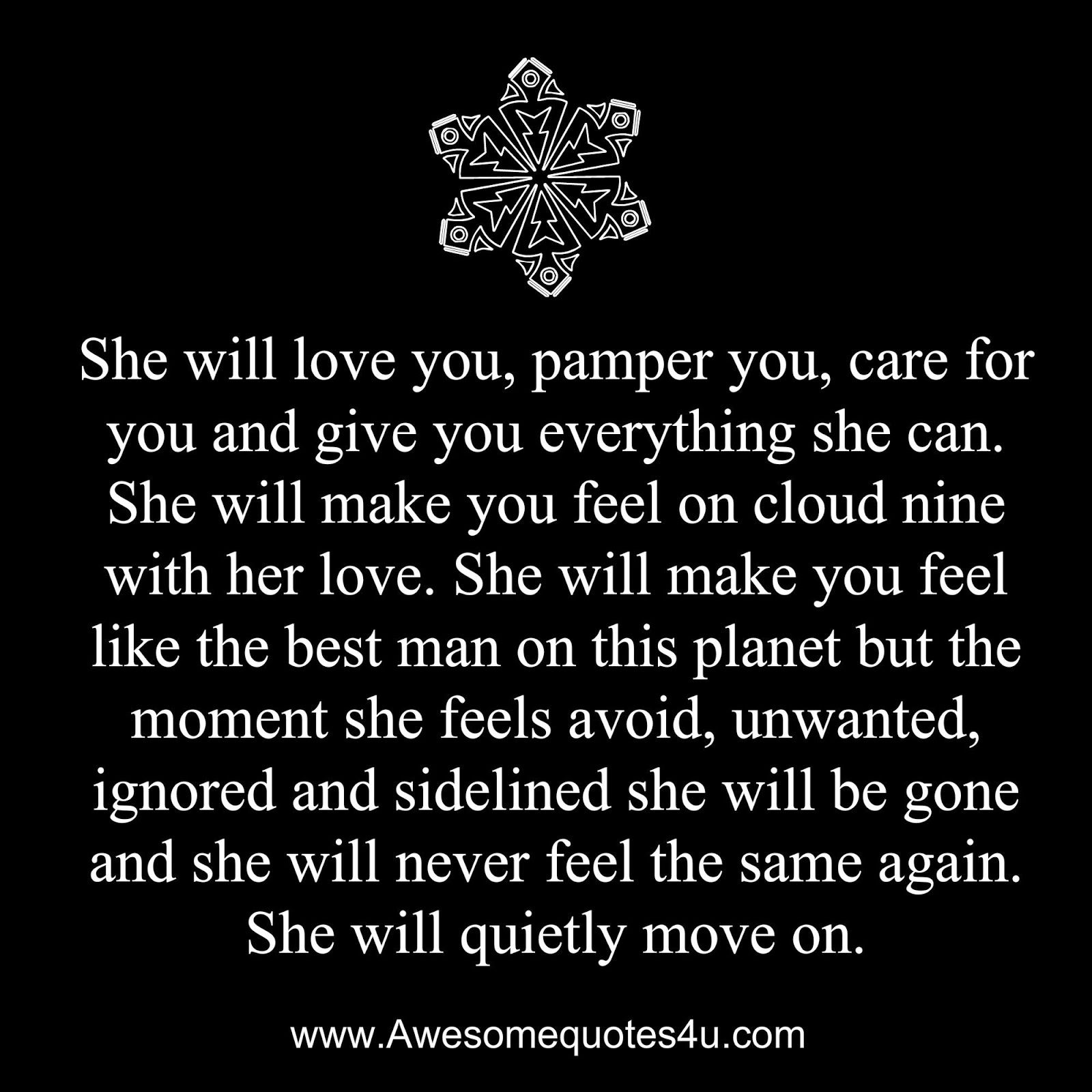 Awesome Quotes: ONE DAY SHE WILL QUIETLY MOVE ON…