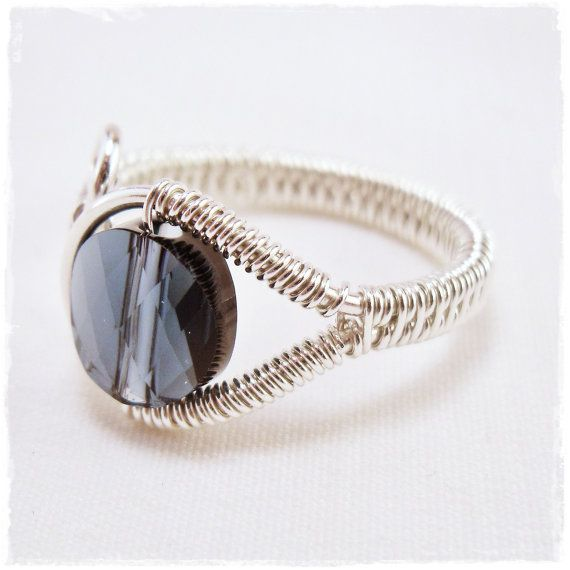 Adjustable wire wrapped ring woven wire ring sterling wire | wire ...
