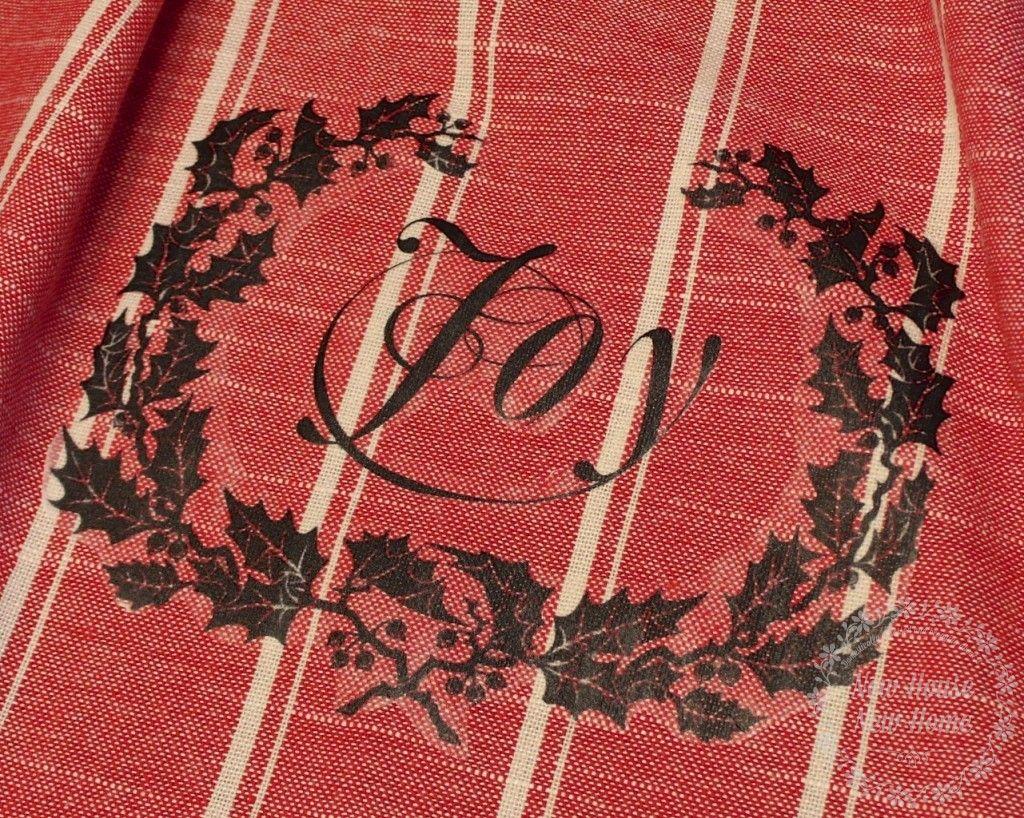 DIY hostess gift ideas: tea towel close-up