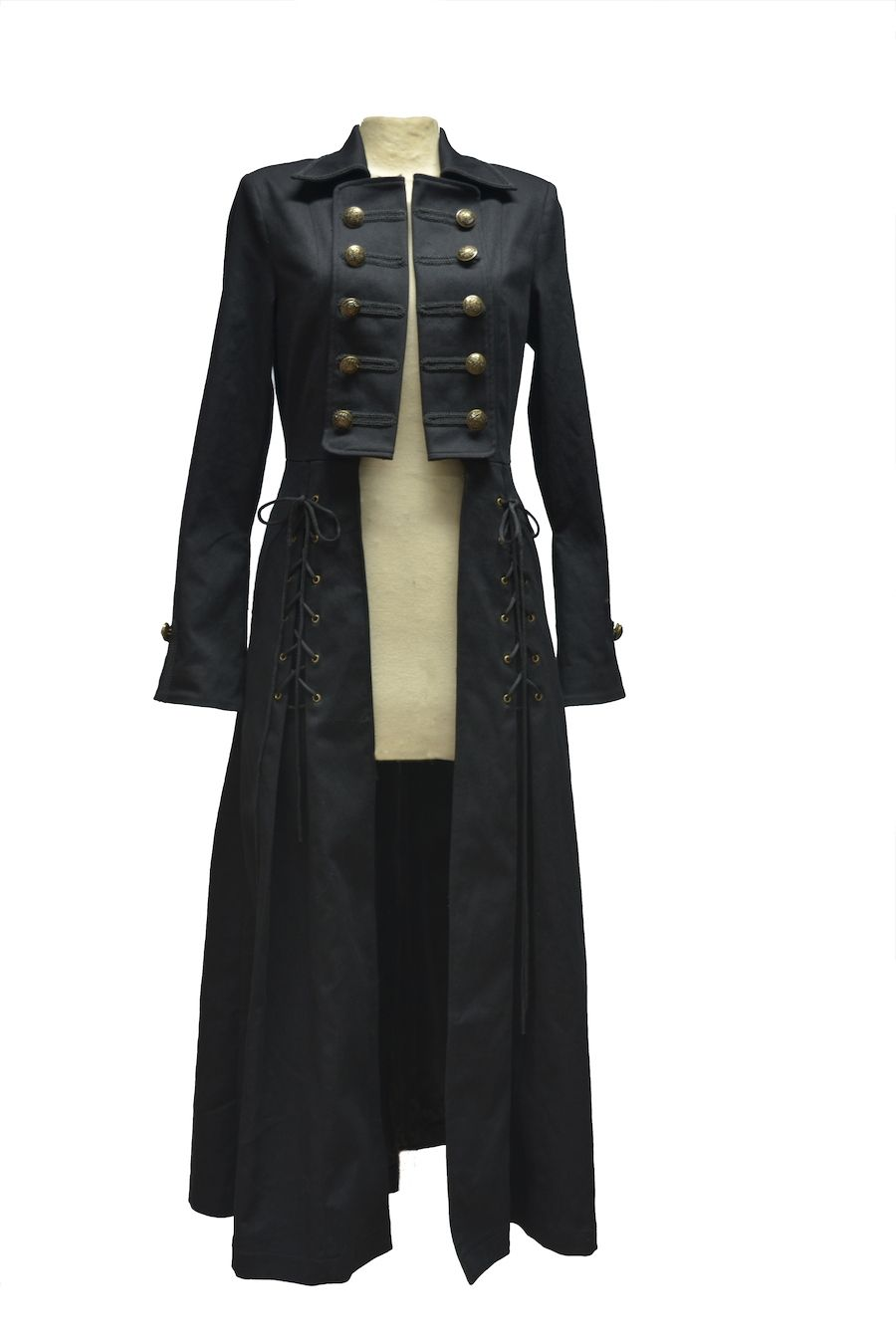 0dc49d8c6704 Manteau long Gothique Aristocrate Femme militaire Noir   Outfits in ...