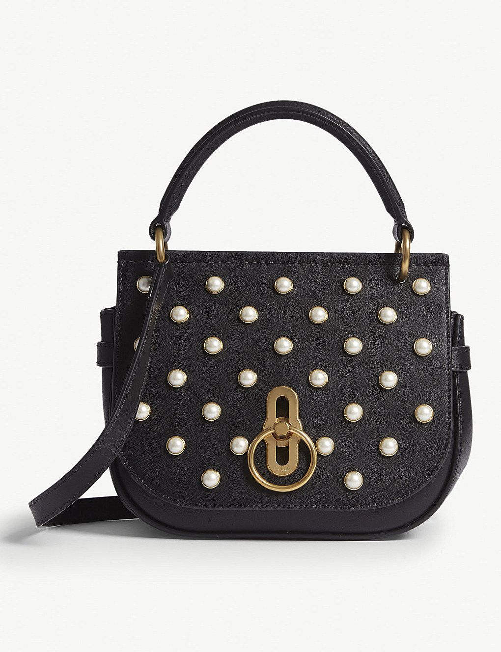 31572b509e MULBERRY - Amberley pearl-encrusted leather cross-body bag | Selfridges.com
