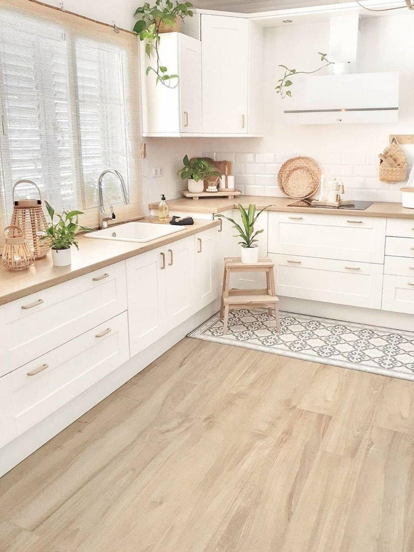 Cuisine Blanche Et Bois Scandinave Idée Déco Cuisine Cuisine Moderne Cuisine Moderne Blanche