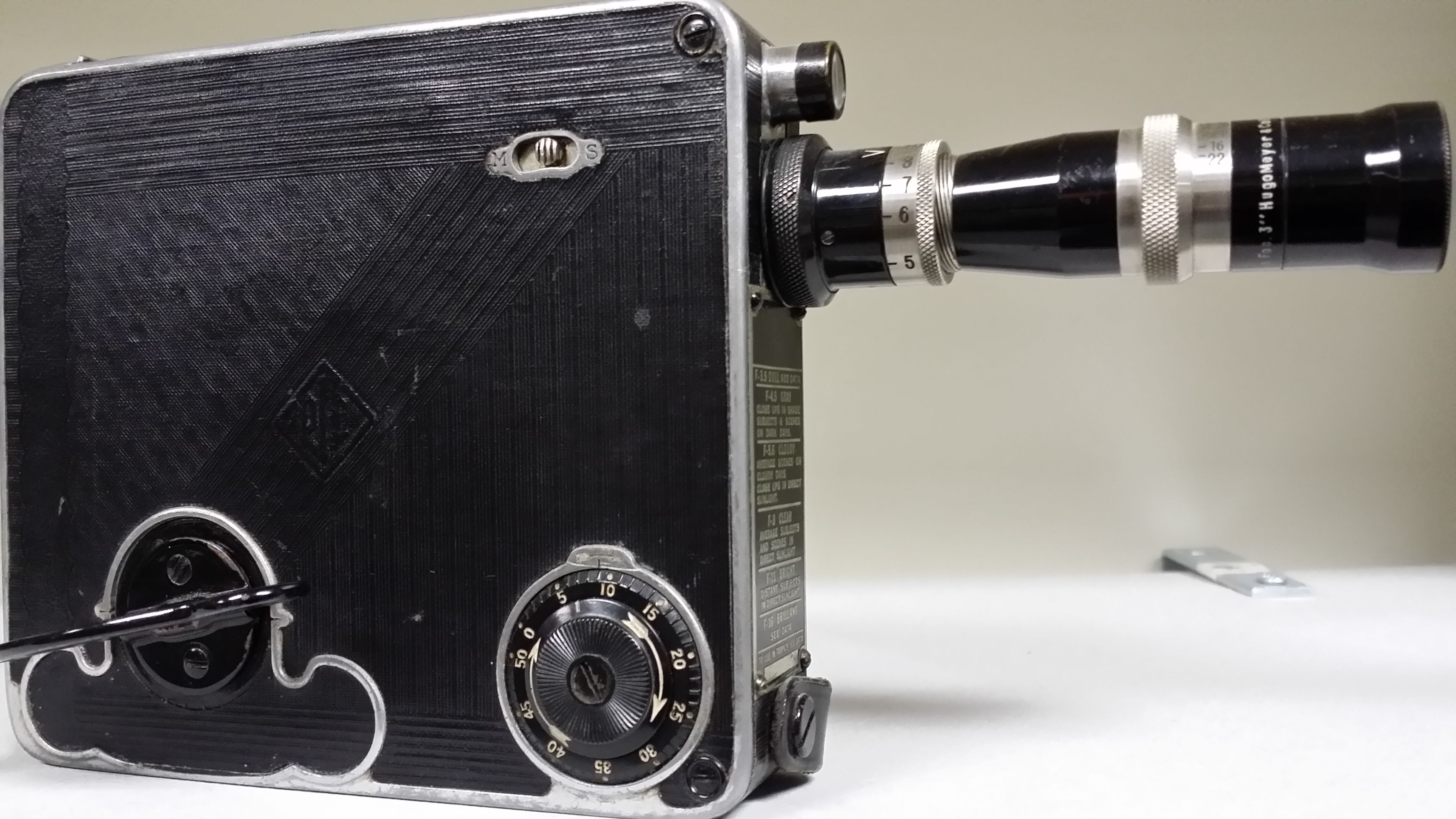 16mm motion picture camera