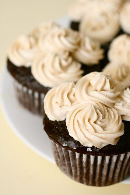 Chocolate Kahlua Cupcakes by Annie's Eats
