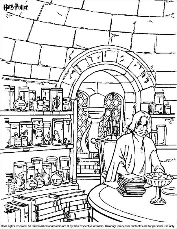 Harry Potter coloring page | Coloring pages ~ | Pinterest ...